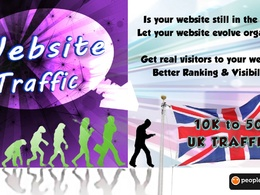 Send you 10000 real Adsense safe UK visitors to your website