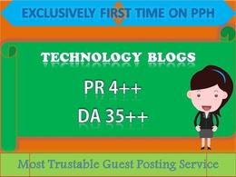 Publish Guest Post in PR4 DA35 Technology Blog