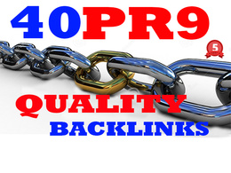 40 SEO PR9 powerful backlinks to boost your google ranking - Safe link building