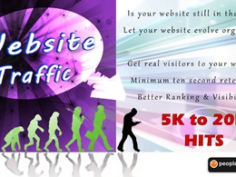 Send you 60 traffic to your site from real visitors