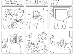 Illustrate one page of storyboards for your script