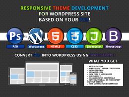 Bespoken design and development wordpress website (HTML5, CSS3 & Bootstrap)