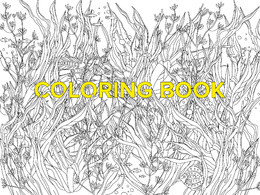 Create adult coloring book page illustration