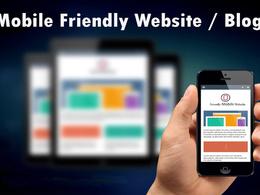 Create Mobile Friendly Website as a Wordpress Expert Designer