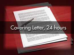 Develop an exceptional Cover Letter, and send it within 24 hours