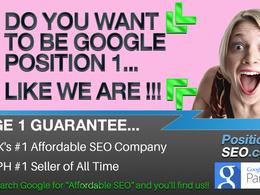 - 2018 SEO - Google Page 1 Guaranteed - UKs #1 SEO Company