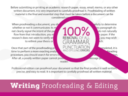 Proofread your work and correct grammar, punctuation and spelling errors - 8000 words