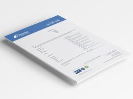 Design a PDF lettehead template