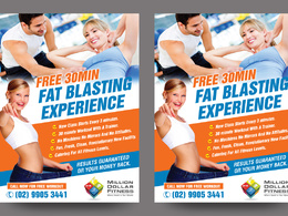 Design Attractive GYM, Yoga, Fitness Flyer