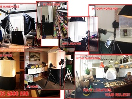 Photograph your products at your location with my large portable studio for 2 hours