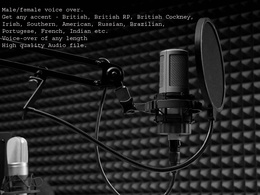 Get a professional voice-over (For any gender, purpose, language, accent, age)
