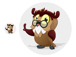 Illustrate a character for be it your business, logo, blog, site, company, etc.