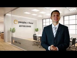 Create a British Spokesperson video with BRANDED OFFICE background