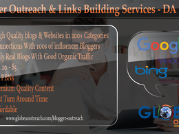Provide you Blogger Outreach, Links Building & Guest Posts on High DA Blogs