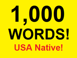 Record and edit 1,000 English words
