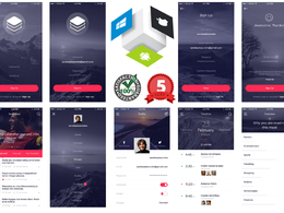 Design Awesome Mobile App UI for Android + IOS