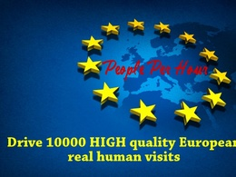Bring 10000 HIGH quality most UK Europe human organic website traffic