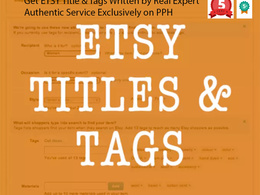 Improve your Etsy SEO by writing your Etsy titles and Etsy tags