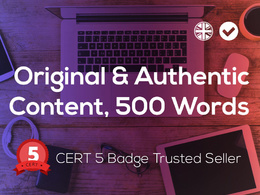Write an original and authentic 500 word SEO article, blog post, news, web content