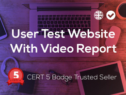 We'll test your website and report back with a unique user experience video