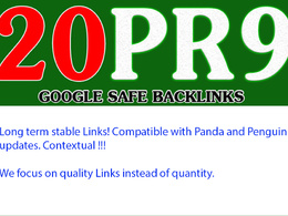 Build 20 PR9 + bonus high rank SEO baclinks (DA 60+)