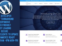 Create WordPress site with DIVI theme-Secure, SEO friendly, Responsive & Fast Loading