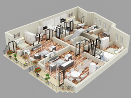 Model your 3d floor plan into 3ds max