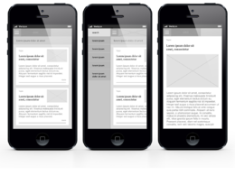 Make wireframes for your mobile apps