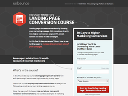 Build an unbounce landing page for you