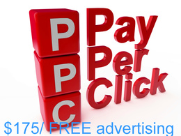 $175/£130 FREE advertising inc in ADWORDS and BING PPC pay per click set up.
