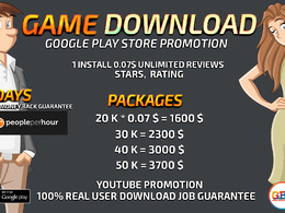 Provide incredible downloads Real traffic Unlimited Rating & Great Feedback