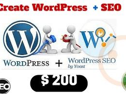 Create WordPress website + SEO