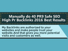 Boost your Google ranking with 40 PR9 Safe SEO High Pr Backlinks
