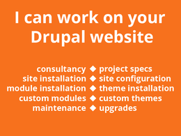 Work on your drupal website for one hour