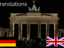 Translate 300 words from English into German & Vice versa in high quality
