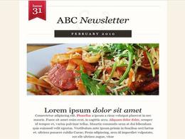 Design Mailchimp E-mail Newsletter Template