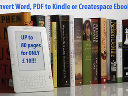 Format and convert to KINDLE or createspace Ebook
