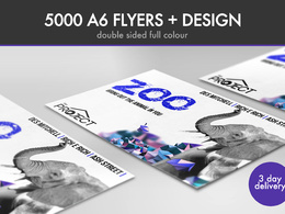 Design a club flyer and print 5k A6 300gm