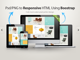 PSD/XD/SKETCH to responsive HTML5/CSS3 using Bootstrap 4