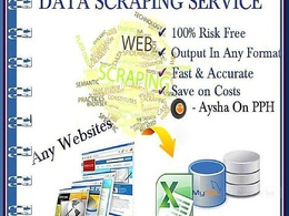 Web scraping / crawling / Harvest/ data scraping  from any website or directory