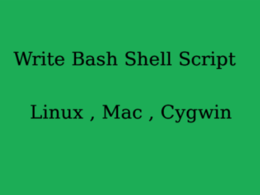 Create mac or linux bash shell or python script