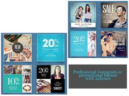 Design an instagram/facebook banner or Promotional Banner