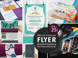 Design an awesome flyer/brochure design within 24 hours