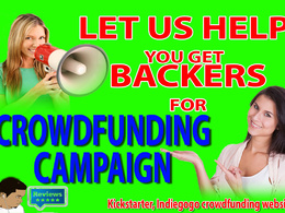 Send backers to your Kickstarter or IndieGoGo campagin GUARANTEED