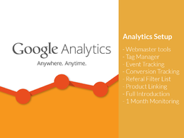 Setup Google Analytics / Tag Manager with Webmaster tools, Event