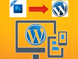 10 Pages PSD to WordPress, WordPress Developer, WordPress Theme Customisation