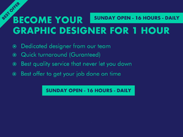 Become your graphic designer for 2 hour