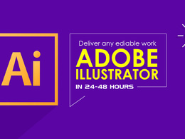 Deliver any ediable work adobe illustrator work in 24-48 hours