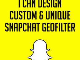 Design custom and unique snapchat geofilter