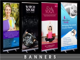 Design creative Roll up banners for your business
